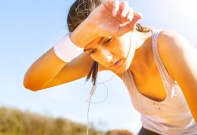 sweaty girl running
